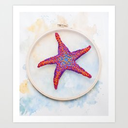 Washed Up Star Art Print