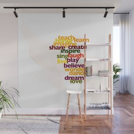 Words to Live By Wall Mural