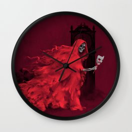 Red Death Wall Clock