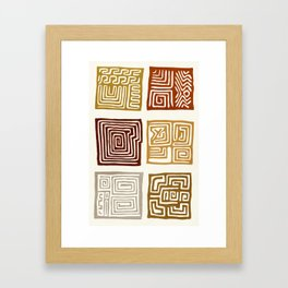 African Ceremonial Pattern Framed Art Print