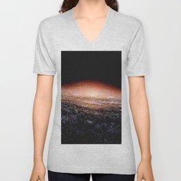 Milky Way Deep Space Telescopic Photograph Unisex V-Neck
