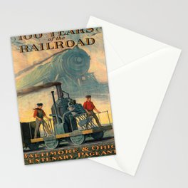 100 years of the railroad baltimore & ohio centenary pageant. 1927 Affiche Stationery Cards