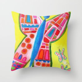 X is for Crossings Throw Pillow