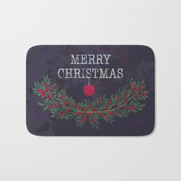 Merry Christmas and Happy New Year Bath Mat