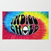 indigo Area & Throw Rugs featuring Indigo by Top Head Culture