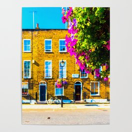 London Terraced Houses Poster