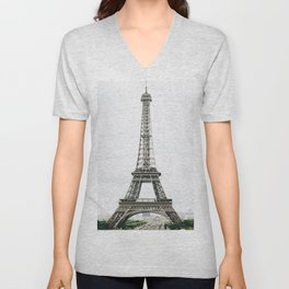 Eiffel Tower - Paris Unisex V-Neck