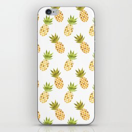Tropical Watercolour Pineapples iPhone Skin