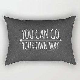 You Can Go Your Own Way Rectangular Pillow