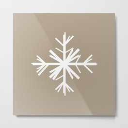 Christmas Winter Woodland Snowflake Metal Print