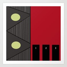 Living By Numbers Art Print