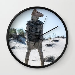 Burning Stag Desert Nomad Wall Clock
