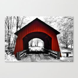Yachats River Valley Covered Bridge Canvas Print