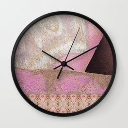 Industrial Pink Painted Cement and Graphic Snake Skin Wall Clock