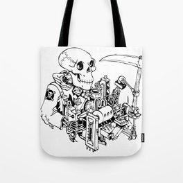 Grim Reaper - Power Scythe Tote Bag