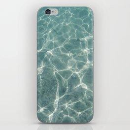 underwater blue iPhone Skin