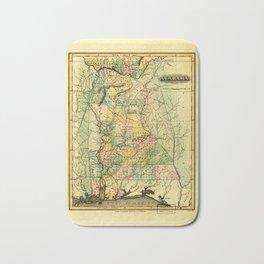 Map of Alabama (1826) Bath Mat