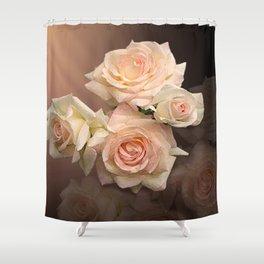 The Roses Blush at Dawn Shower Curtain
