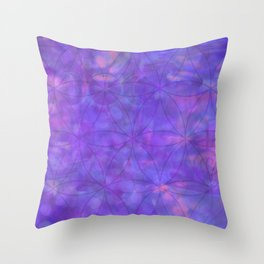 EmpathicPurple Throw Pillow