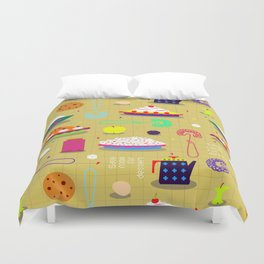 Save Room For Dessert Duvet Cover