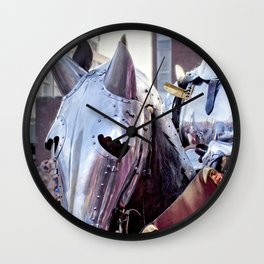 Armoured Horse And Knight Wall Clock