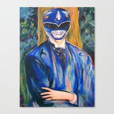 Portrait Of A Blue Ranger Canvas Print