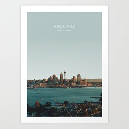 Auckland, New Zealand Travel Artwork Art Print