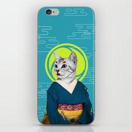 Geisha Cat iPhone Skin