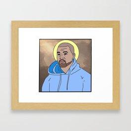 (SAINT) WEST Framed Art Print
