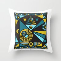 fullmetal alchemist Throw Pillows featuring Witchcraft Alchemist by thedeadprocession