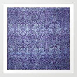 William Morris Brer Rabbit Blue Art Print