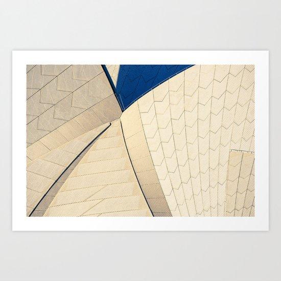 Opera House Tiles Art Print