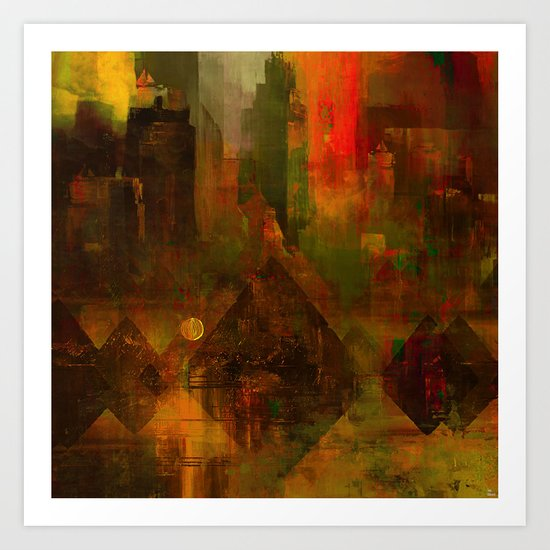 Pyramidal city Art Print