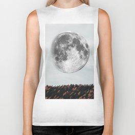 Moon in the fall Biker Tank