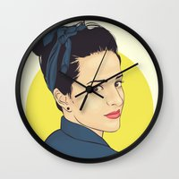 lipstick Wall Clocks featuring Lipstick by FalcaoLucas
