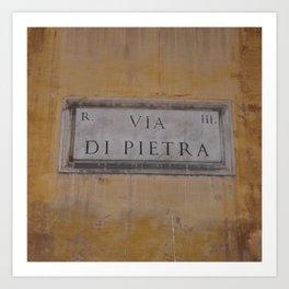 Via di Pietra Art Print