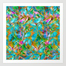 Floral Abstract Stained Glass G265 Art Print