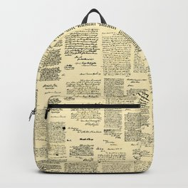 George Washington's Letters // Paper Backpack