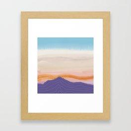 Mixed Media Sunset Framed Art Print