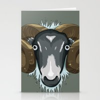 ram Stationery Cards featuring Ram by Stu Jones