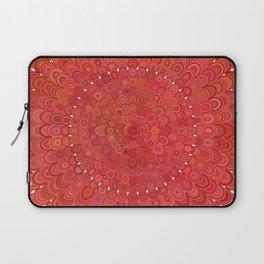 Red Floral Mandala Laptop Sleeve