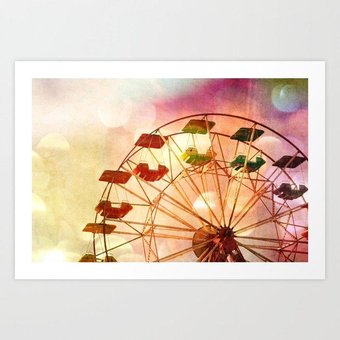 Carnival Ferris Wheel Art Print