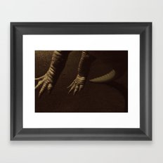 Alligator Claws Framed Art Print