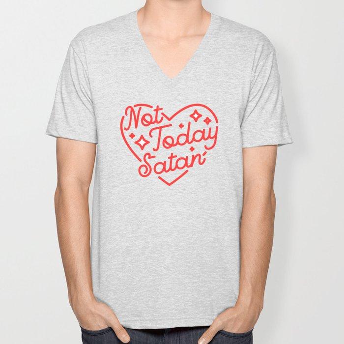 not today satan II Unisex V-Neck