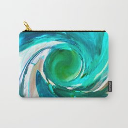 492 - Blue Plastic Bottle Abstract Carry-All Pouch