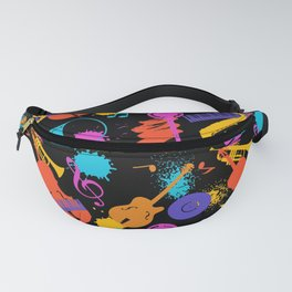 Jazz Music Pattern Fanny Pack