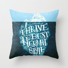 Hermit Iceberg Throw Pillow