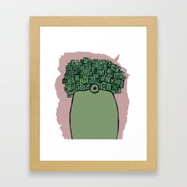 Spaceman with more Speakers Framed Art Print