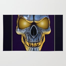 Skull with glowing purple eyes Rug