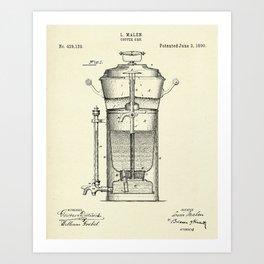 Caffee Urn-1890 Art Print